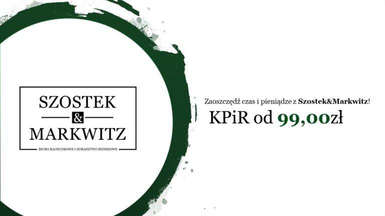 KPiR od 99,00zł